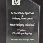 Third prize in the HP Indigo Digital Labels and Packaging Awards.