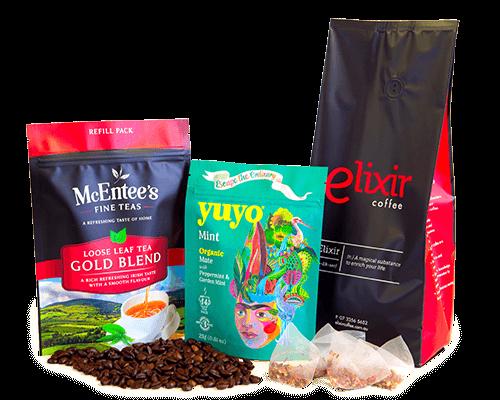 Tea & coffee packaging styles