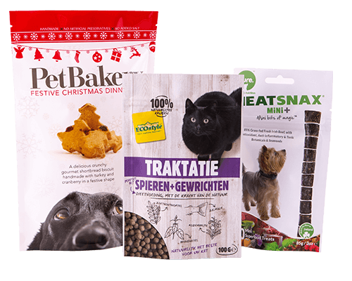 Pet care snacks and treat packaging