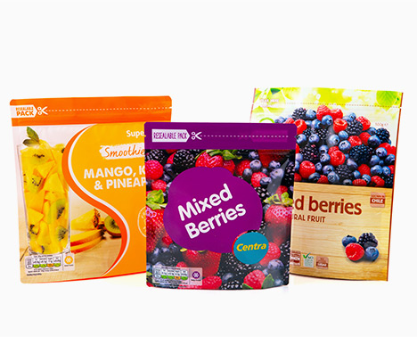 Mixed berries packaging