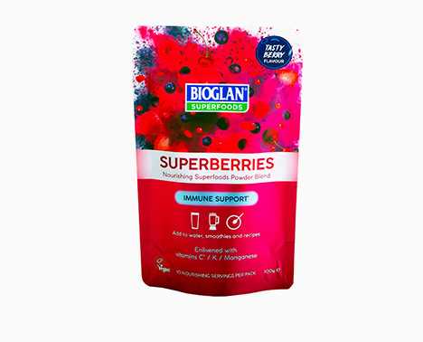 Health food packaging design for superberries powder blend