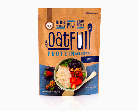 Protein oats in sustainable packaging