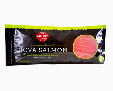 Fresh salmon packaged by foxpak