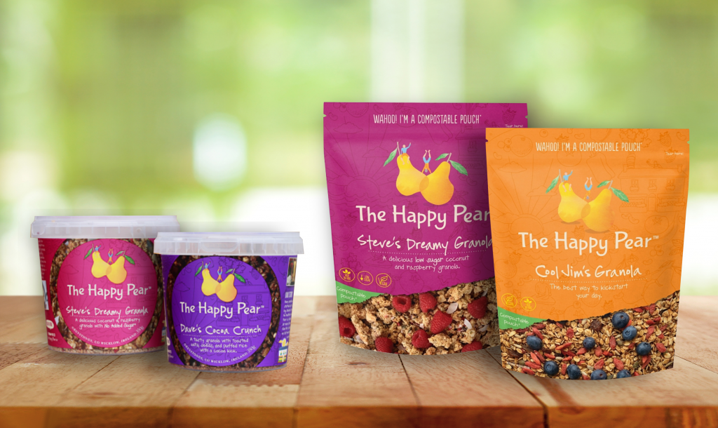 the happy pear compostable pouches