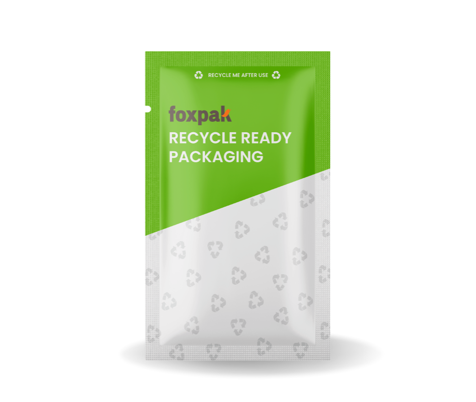 recyclable 3 side seal bag recyclable sachet