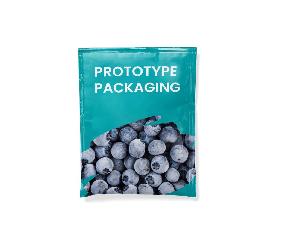 Printed flexible packaging prototype sachet